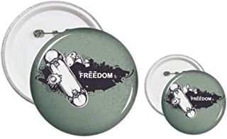 Hip-Hop Freedom Skateboard Monster Pattern Pins Badge Button Design Kits Craft Sets