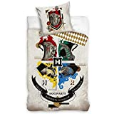 Harry Potter Hogwarts Juego de Funda de Almohada 140x200 + 70x90 cm 100% Algodón