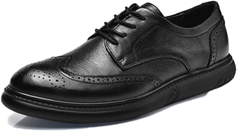 Snfgoij Oxford-Schuhe Herren Komfort Schwarz Arbeiten Schnüren Lackleder Anzug Schuhe Geschnitzte Freizeit Business Schuhe