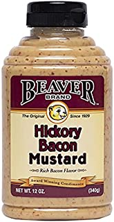 Beaver Hickory Bacon Mustard, 12 Ounce Squeeze Bottle