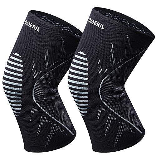 OMERIL Knee Brace, 2 Packs Breathable Knee Compression Sleeves for Men and Women. Anti-Slip Knee...