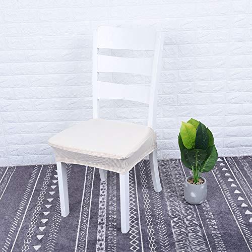 Raguso 4 szt. elastyczny pokrowiec na krzesło wodoodporny zmywalny pokrowiec na krzesło do jadalni żakardowe pokrowce na krzesła ochraniacze do jadalni kuchni (beżowy)