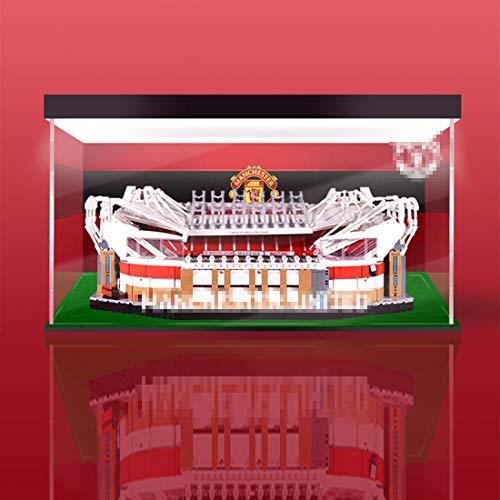 GODNECE Vitrine Acryl Schaukasten, Vitrine Staubschutzhaube Acryl Kompatibel Mit Lego Old Trafford 10272 Bausteine (Modell Nicht Enthalten) - 3mm Top Light + Inkjet + Rasenversion