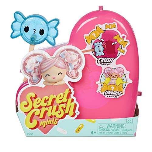 MGA Entertainment Secret Crush Minis Series 2 – Crush to UNbox Sweet-Themed Mini Doll