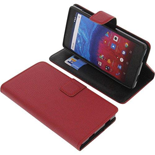 foto-kontor Tasche für Archos Core 50 Book Style rot Schutz Hülle Buch