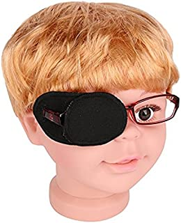 Plinrise Pure Cotton Amblyopia Eye Patch For Glasses,Treat Lazy Eye,Amblyopia And Strabismus,Eye Patch For Children,Regular Size(Black)