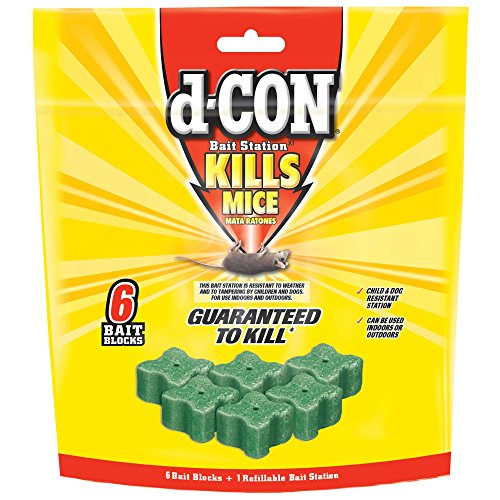 D-Con 1920089479 6 Refills Rodenticide Rodent and Mouse Corner Fit Bait Station