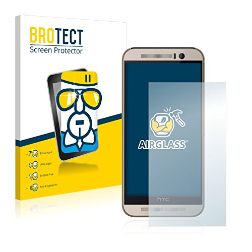 BROTECT Panzerglas Schutzfolie kompatibel mit HTC One M9s - AirGlass, 9H Festigkeit, Anti-Fingerprint, HD-Clear