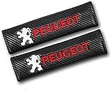 2Pcs Coche Almohadillas Pinturón Cinturón Seguridad para Peugeot 107 108 206 207 308 307 508 2008 3008, Protector Hombro Cuello CóModas Auto Interior Accesorios