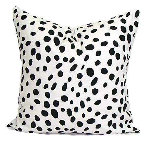 Hannah66Wind Black Pillowcase 18x18 inch Pillowcase Cover Decor ative Pillowcase s Black Sham Black Pillowcase Black Pillowcase Black Cushion Cover Dalmation Animal Print