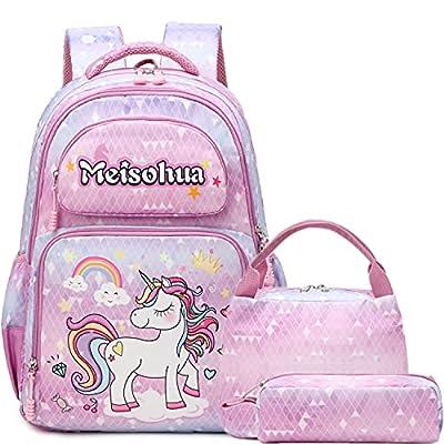 A AM SeaBlue Mochila Unicornio Niña Mochila Infantil niña Mochila Escolar Niña Mochila Estudiantes Bolso para Chicas para La Escuela,Viajes,Intemperie