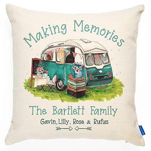 KRAFTYGIFTS Personalised Camper Van Cushion Cover Caravan Vintage Gift KC86