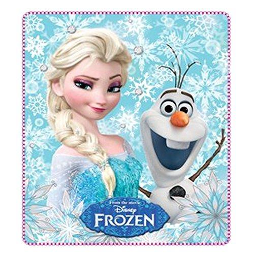 Couverture polaire Licence Disney Frozen Anna Elsa Olaf pour enfant 120 x 140 cm (Elsa Olaf)