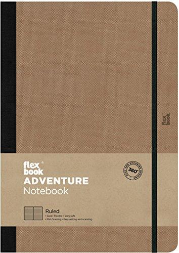 Flexbook Adventure - Notizbuch 17x24cm Taschenformat, 192 Seiten liniert, Kamel-Beige