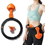 MEETWAY Smart Hula Hoop Non Dropping Hula Hoop with Auto Counting Detachable Loss Weight Fitness Equipment Adjustable Waist Training