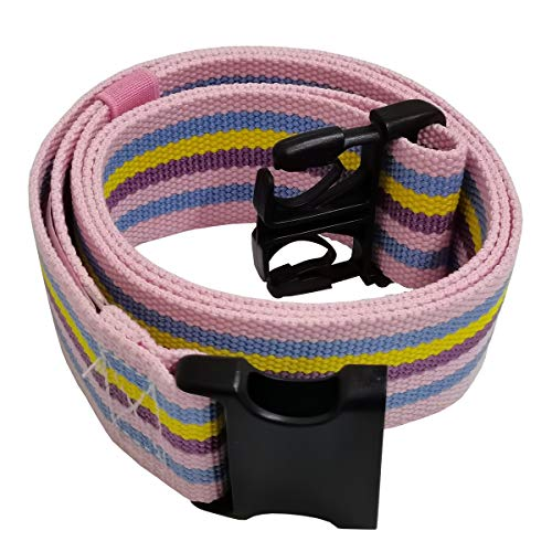 LAMBOX Walking Transfer Gait Belt 60 inch with Quick Release Buckle for Caregiver Therapist (Rainbow)