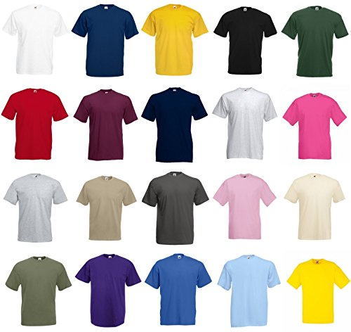 Fruit of the Loom Value Weight T-Shirt - Random - XL Pack of 5