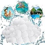 JOYUE Filtro Balls, Sfere per Filtrazione, Filtro per Piscina, Materiale Filtrante 700g Sostituiscono 25kg di Sabbia Filtrante (700g)