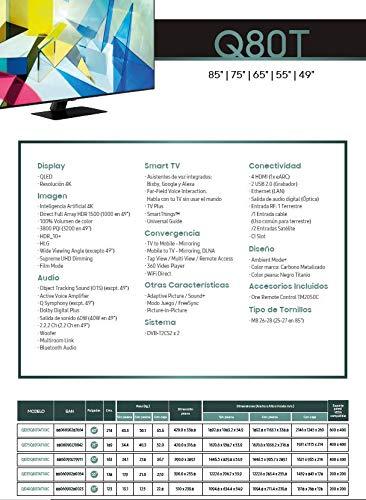 Samsung QLED 4K 2020 65Q80T - Smart TV de 65