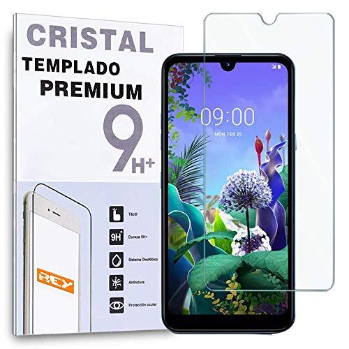 REY Protector de Pantalla para LG Q60 - LG K50, Cristal Vidrio Templado Premium