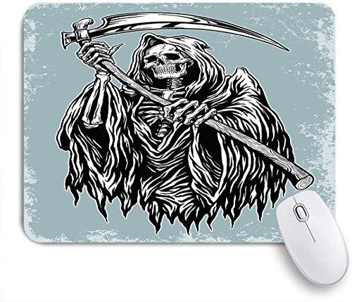 Aliciga Gaming Mouse Pad Rutschfeste Gummibasis,Hand eingefärbter Sensenmann Der König des Terrors Handmäher eingefärbt,für Computer Laptop Office Desk,240 x 200mm