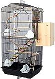 Cage à oiseaux durable et respectueuse de l'enviro Cage de vol pour perruches Cages d'oiseaux pas chères pour perruches, grande cage d'oiseaux de luxe, cage de Budgerigar de la maison de ménage, oisea