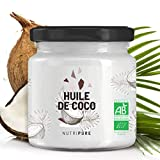 Huile Vierge de Coco Bio 400 mL • 100% Naturelle & Pure • Alternative aux Huiles classiques • Soin du Visage, de la Peau et des Cheveux • Vegan • Pas de singes utilisés pour la Récolte • NUTRIPURE