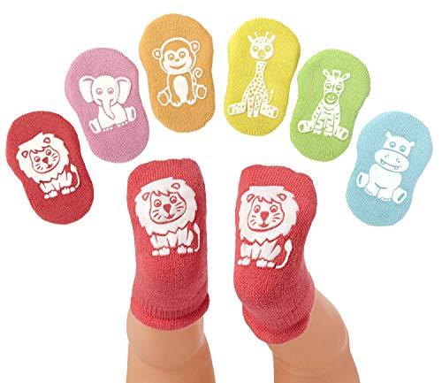 Anole Calcetines Recién Nacido y Bebé - 6 Pares - De Tobillo para Niño y Niña con Suave Mullido de Algodón (Toque de Color, 3-6 Meses)