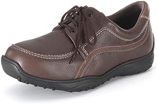 Zapatos DIABETICOS Hombre CALZAMEDI,Piel Marron,Ancho Horma 20, Plantilla Extraible, Tallas Grandes   .Mod.2102