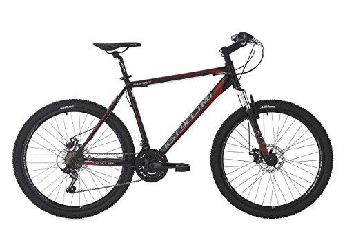 KS Cycling Mountainbike Hardtail MTB 26'' Sharp schwarz-rot RH 51 cm
