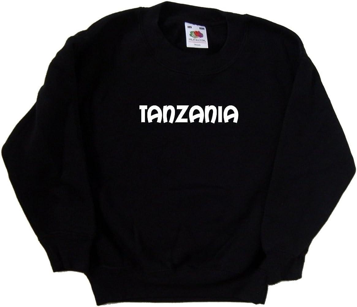 Fresno Mall Tanzania text Black San Antonio Mall Sweatshirt Kids