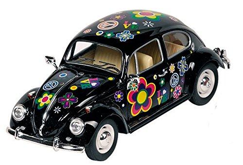 Welly Metals Volkswagen Beetle Flores: 17 cm Negro