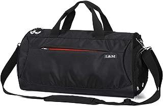 LM スポーツバッグ ジムバッグ 旅行バッグ シューズ収納 乾湿分離 軽量 2Way ボストンバッグ 防水 スポーツ/旅行/出張/合宿