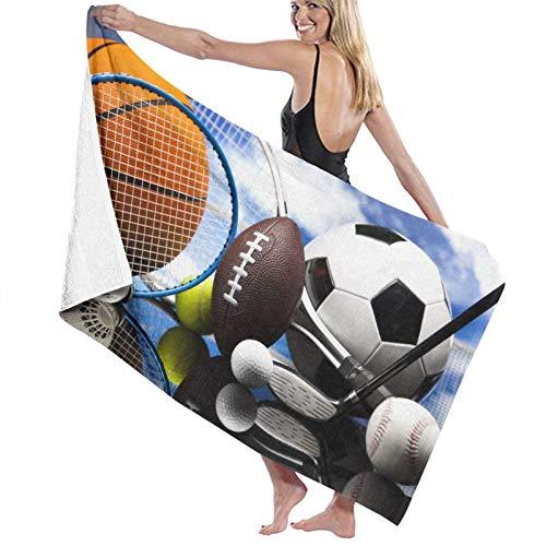 SUHETI Toallas de baño,de Playa,Equipamiento Deportivo Fútbol Fútbol Dardos Hockey sobre Hielo Béisbol Baloncesto,Muy Absorbente y Suave para Yoga, Fitness, Camping y Deportes al Aire Libre.