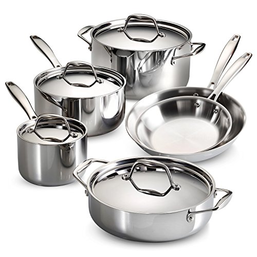 Tramontina 10-Piece Cookware Set Stainless Steel,...