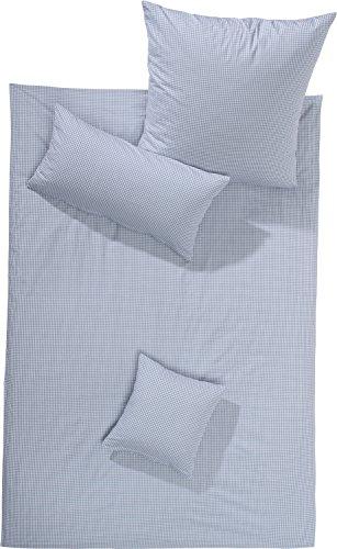 Lorena Batist Bettwäsche Basel Mini-Karo grau 1 Bettbezug 135x200 cm + 1 Kissenbezug 80x80 cm