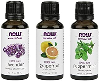 3-Pack Variety of NOW Essential Oils: Summer Fun - Lavender, Grapefruit, Peppermint