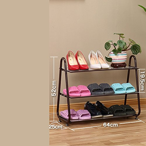 Fer à Repasser Dormitory Footwear Porte Multi-étages Simple Storage Slippers Rack (Couleur : Bronze)