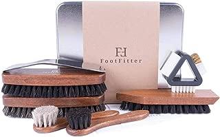 Professional Shoe Shine Brush Set, 9 Piece Polishing Kit for Men!