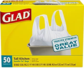 50-Count Glad Tall Kitchen Handle-Tie 13-Gallon Trash Bags