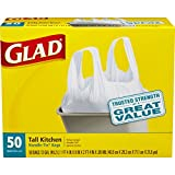 Glad Tall Handle-Tie Kitchen Trash Bags - 13 Gallon - 50 Count