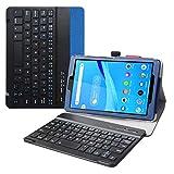 Tab M8 FHD Bluetooth Teclado Funda,LiuShan Detachable Bluetooth Teclado PU Cuero con Soporte Caso para 8' Lenovo Tab M8 FHD (2nd Gen) TB-8705 Tablet(Not fit Lenovo Tab M8 HD),Azul