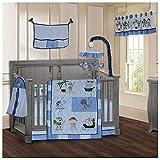 BabyFad Pirates 9 Piece Baby Crib Bedding Set