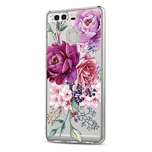 Jeack Kompatibel für Huawei P9 Hülle,Huawei P9 Handyhüllen Crystal Clear Ultra Dünn Flexibel Silikon Case SlimTransparent Schutzhülle Tasche case für Huawei P9 (4)