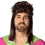 Boland- Parrucche e parrucchini per Adulti, Castano, Taglia Unica, 86385