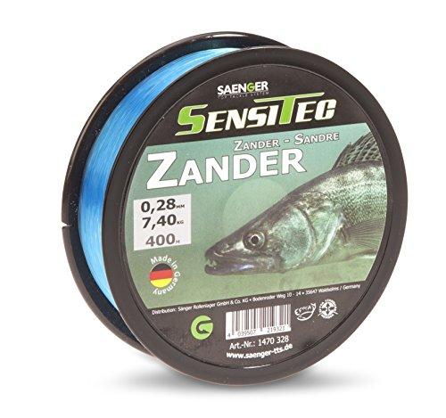 SENSITEC Zander - Farbe: tarn blau - Ø 0,25mm / 6,25kg / 400m New 2018 Angelschnur monofil Sänger