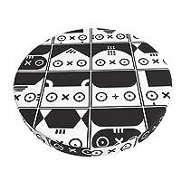 スツールカバー 丸椅子カバー マル椅子カバー カワイイ 動物柄 ラウンドスツール チェアカバー 丸型 スツールクッション 円形 エステスツール イスカバー 取り付け簡単 座面カバー 伸縮素材 ホームバー オフィス