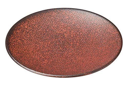 柿赤 17.5cm丸皿 [ 17.5 x 2cm ] [ 中皿 ] | 飲食店 和食 旅館 料亭 ホテル 業務用