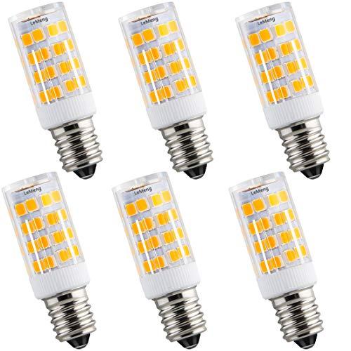 LeMeng E12 LED Bulb 4W 400Lm, 2700K Warm White,C7 Candelabra Base AC110V-130V for Chandelier Ceiling Fan Night Lights (20-40W Halogen Equivalent), Non-dimmable, 6-Pack