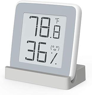 Homidy Humidity Meter Indoor Thermometer, Rare 360 Degree HD E-ink Screen Hygrometer Thermometer Swiss Sensirion High Precision Sensor Temperature Humidity Gauge (Xiaomi Mijia Smart Original)